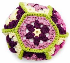 Crochet Pincushion: Parterre Garden freebie, yummy ; thanks so xox
