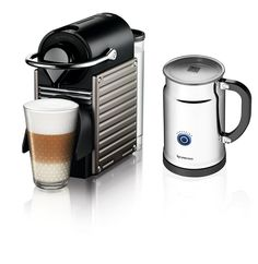 Nespresso Pixie Espresso Maker With Aeroccino Plus Milk Frother, Electric Titan *** You can find out more details at the link of the image.