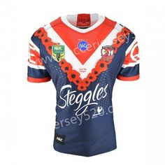 2018-2019 Australia Roosters Commemorative Edition Dark Blue Thailand Rugby  Shirt. Kids Soccer 2e1890b5c