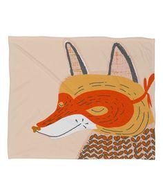 Loving this Mummy Sam 'Mr. Fox' Fleece Throw on #zulily! #zulilyfinds