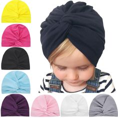 bc5bda8e8a70a Headwear Newborn Toddler Turban Cute Baby Hat Beanie Cap Knotted Headband   fashion  clothing