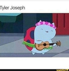 that is literally him and his ukelele