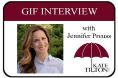 Author Jennifer Preuss shares her story in the form of gifs. :) - Kate Tilton
