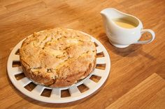 Recipes for Apple Cake and Custard Cream Sauce. Snow White Themed Baking