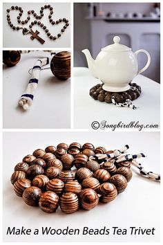 This looks  so awesome!  Wow, you  are  talented :).  I'm not so sure  I am, but, I will try to  make  this. What the  yek ? How to make a wooden beads tea trivet