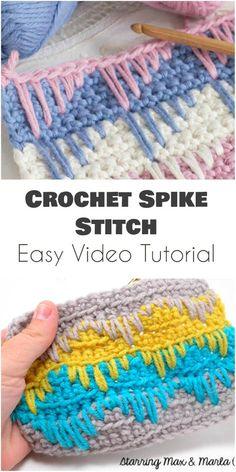 90e139684 Spike Stitch – Easy Video Tutorial Háčkované Kvety, Návody Na Háčkovanie,  Vzory Na Pletenie
