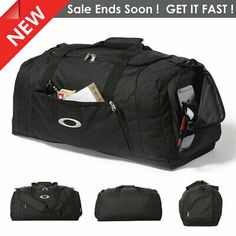 Oakley Gym To Street Duffel Bag, Travel Duffel, Gym bag Blackout 643622168255 Easy Entry, New Year Gifts, Duffel Bag, Weekend Getaways, Zippers, Oakley, Gym Bag, Workouts, Just For You