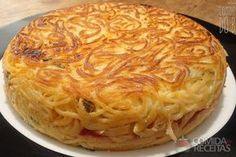 Receita de Omelete de espaguete diferente em receitas de ovos, veja essa e outras receitas aqui!