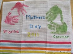 Mother's Day Hand Print Towel Craft