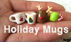 Polymer Clay Christmas Mugs Tutorial  by ThingSoSweet