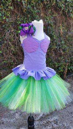 *handmade* The little mermaid Ariel inspired tutu dress and bow