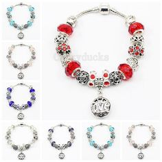 AA-03 Luxury 925 Sterling Silver Daisies Murano Glass&Crystal Beads Fits European Style Bracelets from Crazyducks,$3.15   DHgate.com