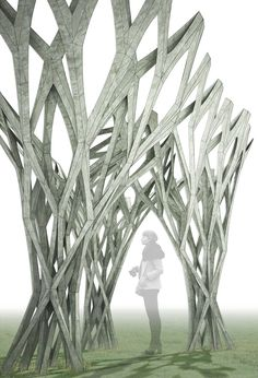 Winner of APPLIED: Research Through Fabrication Competition | CAST THICKET by Christine Yogiaman and Ken Tracy | Bustler.net