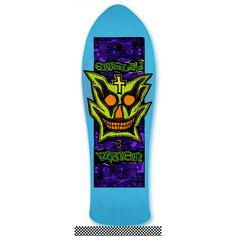 Vision Skateboards  Old School Grigley Re-Issue Deck Blue  9.75x31