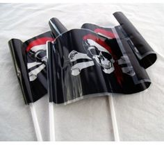 These pirate flags would stand great in the sand