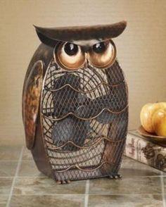 Deco Breeze DBF0365 Owl Figurine Decorative Electric Fan