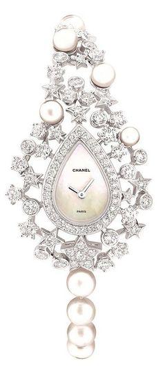 FashionJewelleryWatches | RosamariaGFrangini || Chanel Pearls and Diamond Watch