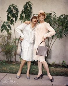Tony Curtis and Jack Lemmon on the set of Some Like It Hot