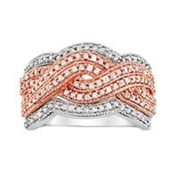 1 ct tw diamond rose gold anniversary ring from Fred Meyer Jewelers