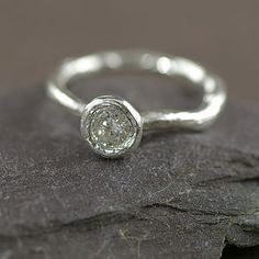 Silver And Cubic Zirconium Ring - rings