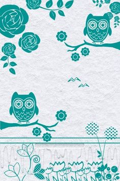 This owl wallpaper is so cute