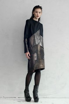 Really nice contrast in texture - Titianai Ainglis Point Blazer  + Erosion Skirt