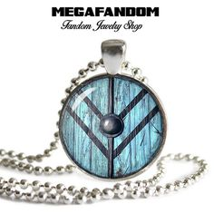 Lagerthas Shield Pendant with Ball chain Vikings TV show Lagertha Shield maiden Fandom Jewelry