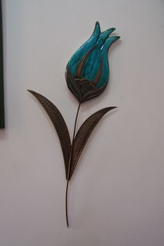 Ceramic and Brass. Hand made and special desing. 50 cm for the wall.