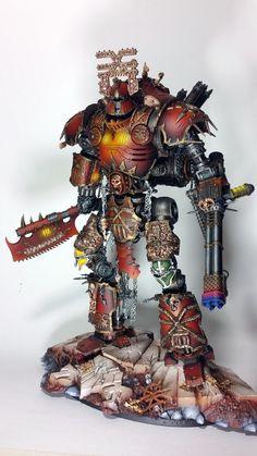 Chaos, Khorne, Knights, Titan - Khorne Knight Titan - Gallery - DakkaDakka | Now accepting servo-skull applications.