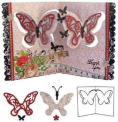 Butterfly Pivot Card Cutting Dies Pop it Up™ Collection by Elizabeth Crafts Designs (4007880)