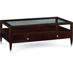 Thomasville Spellbound - matches my chest.  Coffee table for living room.