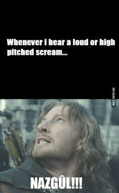 So true I could scream. And then call myself a Nazgûl.