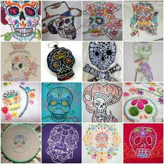 Embroidery Inspiration - Skulls