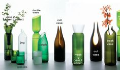 Transglass recycled wine bottles by Emma Woffende & Tord Boontje. Lovely, lovely stuff.