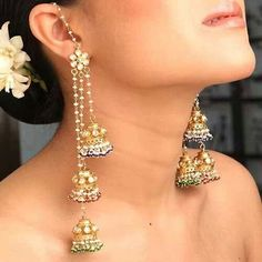 Beautiful Indian Earings With Baskets Called Jhumkay