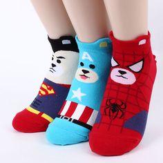 Super bears socks 4pairs=1pack women woman funny socks made in korea[USfree] #aries #Casual