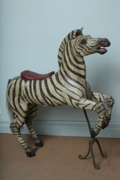 Exceptional Exotic Carousel Zebra by Karl Muller image 3