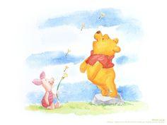 Winnie the Pooh; wallpaper of Pooh & Piglet