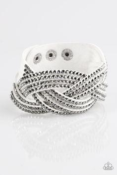 Top Class Chic   $5 - No Tax #bracelet #uniquelyurban #white #suede #rhinestones #yourblingboss