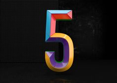 Colorful Numbers on Behance