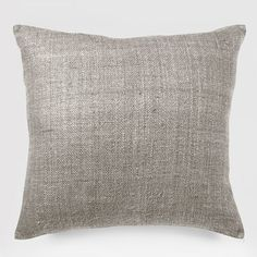 *********************  Solid Silk Hand-Loomed Pillow Cover - Platinum | West Elm