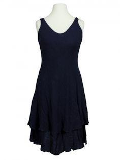 Damen Kleid Lagenlook, blau von fashion made in italy bei www.meinkleidchen.de