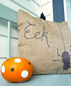 DIY Halloween Door Hanging and Our Crow-tastically Spooky Front Porch   The Happy Housie
