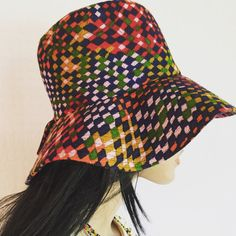Vintage 1970s Psychedelic Floppy Hippie Hat by GypsysClosetVintage