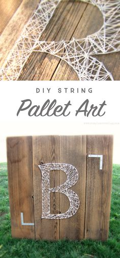 Follow along with this simple tutorial and learn how to create your own Monogram String art using upcycled pallet boards along with a handful of other supplies!