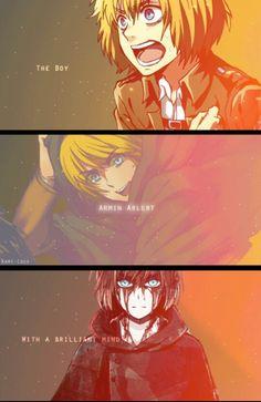 Attack on Titan - Shingeki no Kyojin Armin, Mikasa, Levi X Eren, Fanart Manga, Manga Anime, Anime Art, Otaku, Fanarts Anime, Anime Characters