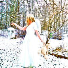 Enkeli unelmia My Photos, White Dress, Dresses, Fashion, Gowns, Moda, White Dress Outfit, Fashion Styles, Dress