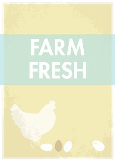 This would be cute in our kitchen - Farm Fresh kitchen art print yellow size 11x14 by GraphicAnthology, $22.00