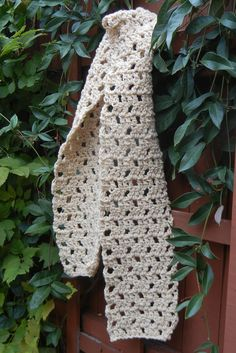"Large view of ""Louisiana Shepherd's Scarf, Crocheted"" pattern designed by Laurie Bea Knitting, especially for Gulf Coast Native wool yarn by Wool of Louisiana.  Contact us to learn how to get this pattern for free!"