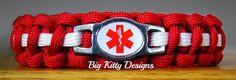 EMT First Responder Red Paracord Bracelet w/Side Release Buckle  $16.95
